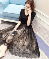 Wholesale Vlone palace European station lace dress midfielder summer new Korean version of the yarn skirt fashion summer women s tide