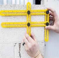 ingrosso plastic template-Strumenti di misurazione angolo righello multi-angolo Strumenti di misurazione righello in plastica quattro righello Grande strumento per tutte le superfici G061