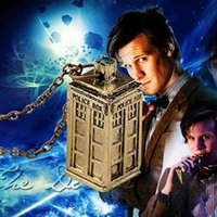 Wholesale Dr House - Popular Mysterious Dr. Doctor Who Tardis House Pendant Necklace High Quality Hot Sale Necklace Movie jewelry