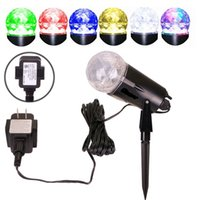 Wholesale Festival Gardens - 2 in 1 Rotating Led Projector Light with Flame Lighting effect Magical stage family party garden Decor light for Xmas Festival