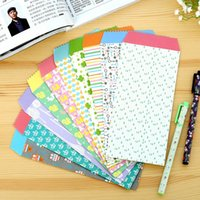 Venda por atacado - 30packs / lot 175 * 85mm Vintage Sweet Love série DIY Multifunction Kraft envelope de papel Green envelope por atacado