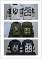 Wholesale Hockey Jersey Blank Black - 2017-2018 New style Stitched NHL adlads Vegas Golden Knights Blank #29 Marc-Andre Fleury White Dark Grey Hockey Jerseys Ice
