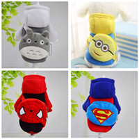 Wholesale Funny Cartoon Bags - KIMHOME PET Winter Autumn Dog Clothes For Small Dogs Cotton Dog Coat Funny Dog Halloween Costume With Cartoon Bag Pet Clothes