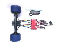 moteurs électriques sans balais achat en gros de-Électrique Skateboard Dual Hub moteur Kit E-board Brushless Hub moteur Drive électrique Longboard Power System avec ESC et à distance