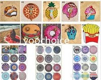 Wholesale Large Bath Towels Wholesale - Large Printed Round Beach 150cm Yoga Towels Sunbath Chiffon Beach Swimming Bath Towel Blanket Bohemia Toallas 100pcs