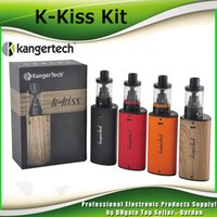 Wholesale ss mod - Authentic Kanger K-KISS Starter Kit Built-in 6500mAh Battery Mod Top Filling 4.5ml Tank KangerTech SSOCC SS 0.2Ohm coil 100% Genuine 2211088