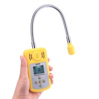 Wholesale Professional Detector Gas - Freeshiping Portable Gas Analyzer Professional Combustible Gas Detector Gas Leak Location Determine Tester with LCD Screen Sound-light Alarm