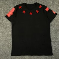 Wholesale Turtleneck T Shirts Short Sleeve - 2017 cents stars 47 short sleeve turtleneck collar men loose big yards printed t-shirts