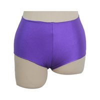 Wholesale Yoga Pants Dancing Hot - Women Dance Shorts Pole Dancing Yoga Noylon Lycra Medium Waist Hot Pants All Colors and Sizes Dancewear