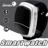 Wholesale Watches Memory Cards - B90 Bluetooth Smart Watch wireless Portable speaker DZ09 GT08 smart watches Support Memory TF Card Hands-free call Wrisbrand with package