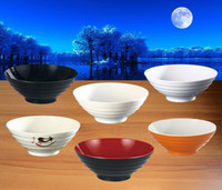 Wholesale Noodle Bowls - Melamine Dinnerware Noodle Bowl Cone Ring Striae Bowl WIth Chain Restaurant A5 Melamine Bowls Melamine Tableware Soup Bowl