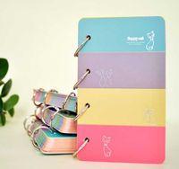 Wholesale Agenda Cat - Wholesale- Happy cat mini pocket ring diary 16*9.4cm colorful notebook agenda 128 sheets school children gift
