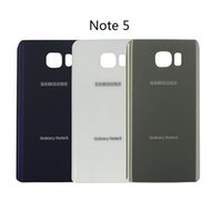 Wholesale Note Housing Case - Original Note5 Back Cover Glass housing Battery Cover Glass Door Case For Samsung Galaxy Note 5 N920 N920F Back Glass Free Shipping