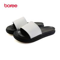 Wholesale Flat Back Decor - Wholesale-Boree 2016 New Summer Lover's Sandals Fashion Beach Casual Shoes Soft Microfiber Decor Flat Solid Peep Toe Lazy Slippers SDL0243