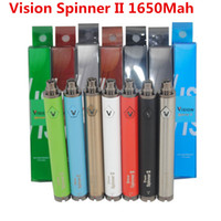 Wholesale Cell Vision - e cig batteries 1650MAH vision spinner II 2 ego twist c rechargeable batteries Cell Battery usb battery dhl c cell rechargeable battery