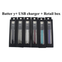 Wholesale Green Battery Charger - BUD touch battery with USB Charger 510 thread e cigarette 280mAh battery vaporizer O-pen cartridges for CE3 Atomizer