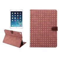Rivet PU Leather Flip Folio Book Case Cover Flip PU PC caso protetor à prova de choque para Ipad IPAD air 5 New IPAD 9.7 2017