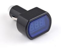 Wholesale Truck Battery Wholesale - Digital Mini LED Car Truck Battery Voltmeter Voltage Gauge Volt Meter tester 12V 24V