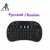 Atacado-Russo RU Air Mouse Original i8 Mini Wireless gaming Teclado 2.4G Touch Pad Handheld para PC / Laptop / iPad / Android TV Box iptv