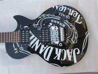 Wholesale Slash Lp Electric Guitar - Electric guitar JACK DANIS guitar lp standard slash super black color guitar in china
