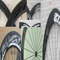 Wholesale Carbon Wheelset China - Supper light 3 zp full carbon road bike wheelset clincher 700C china bicycle carbon wheels 3k weave free shipping