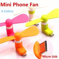 Portable Mini Micro USB Fan Flexível Fans de telefone móvel Colorful Super Mute Cooler Para Samsung Xiaomi LG Android Phone Computer