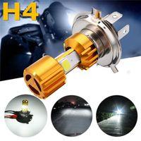 ingrosso il proiettore principale del motociclo 12v-Lampadina H4 LED COB per moto moto Hi / Lo faro DC 12v 24V 6500K 1500LM 18W