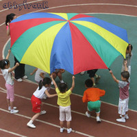 Wholesale Abbyfrank Handle m Kid Toy Rainbow Parachute Multicolor Nylon Suitable For Individual Outdoor Fun Sport Development