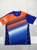 Wholesale Victory Shirt - victory badminton Shirt Shorts clothes,men women victory Jersey ,polyester quick dry tennis tshirt,victory T-Shirts Green Orange M-4XL
