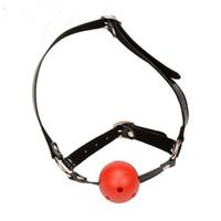 секс красный шар рот оптовых-Бесплатная Доставка Мини Мягкий Силиконовый Шар Рот Кляп Мяч Кляп Черный Красный Розовый Бондаж Кляп Мяч Секс-Игрушки Для Взрослых Игрушки