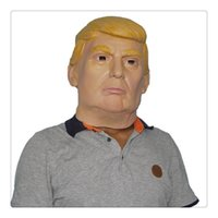 Wholesale usa halloween costumes - Party Latex Mask USA President Donald Trump Halloween Masks Republican Presidential Candidate Costume Play Mask Party Supplies Free Shipping