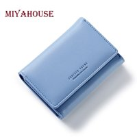 Wholesale Small Leather Pocket Change Holder - Miyahouse Women Short Wallet Soft PU Leather Female Small Purse Elegant Lady Hasp Change Purses Multifunction Card Purse