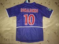 camisas de rugby de marca venda por atacado-02-03 Liga Francesa Paris jerseys home vantage jersey Camisas de jersey de Retor Ronaldinho