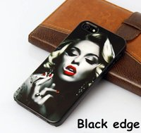 Wholesale Marilyn Monroe Iphone - Free shipping for iphone 7 7plus 6 6S TPU plastic Marilyn Monroe blowing balloons casing painted black and white edge