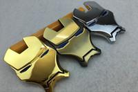 Wholesale Gold Chrome Sticker - 3D Chrome Metal Iron Man Car Emblem Stickers Logo Decoration The Avengers Car Styling Decals Exterior Accessories Silver Gold