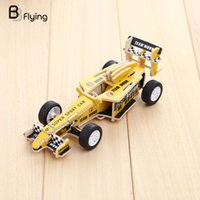 Wholesale 3d Wooden Car Puzzle - Wholesale- New 3D Wooden Woodcraft Jigsaw Puzzle Construction DIY Craft Toy Wood Car Vehicle Model Hot Kids Children