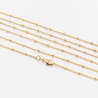 """Wholesale Supply Chain Accessories - 16-20"""" Satellite Chain Gold Plated Necklaces -- With Losbter Clasp Wholesale Bulk Sale Craft Supply Gold Plated Accessory Charm CQA-073"""