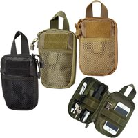 Wholesale Hiking Magazines - Military Molle EDC Pouch Mesh Tools Accessory Pouches Tactical Waist Hunting Bags Outdoor Flashlight Magazine Pocket 20pcs Free DHL Fedex