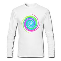 Wholesale Types Clothes Neck - Geometric type clothing for man teenage unique design t-shirt autumn long sleeves tshirts fantastic Candy Twirl
