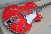 Wholesale Hollow Falcon - Top Quality Custom Shop Red Falcon 6119-1962FT Semi Hollow Body Jazz Electric Guitar Chrome Hardware Free Shipping