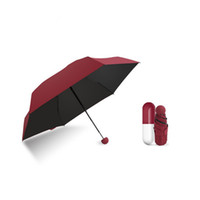 18cm Super Mini Capsule Super Light Sunny Guarda-chuvas Proteção UV Double-purpose Sunny and Rain Mini Folding Umbrella