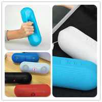 Wholesale Wireless Outlet Plug - Pill-shaped XL Pill Portable Wireless Speaker Card Plug-in 4 Colour Factory outlets With Raiod F LOGO