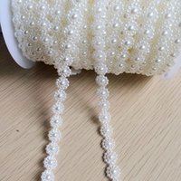 Wholesale Garment Jewelry - 10 mm ivory bow material garment accessories DIY manual sunflower imitation pearl chain wedding jewelry, crafts