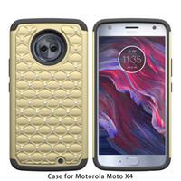 Wholesale Iphone Case Bling Starry - Armor Case For Motorola Moto X4 Motorola Moto E4 Metropcs iphone x 8 plus Bling Diamond Starry Rubber PC + Silicone Rhinestone Cover D