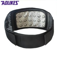 Wholesale Magnetic Waist Support - Wholesale- AOLIKES Tourmaline Products Self-heating Magnetic Protector Waist Back Support Brace Belt Lumbar Warm Posture Corrector Abdomen