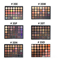 Wholesale Shadow Colors For Green Eyes - New eyeshadow 35 colors Earth Matte Eyeshadow Palette Makeup Eye Shadow for 35P 35C 35T 35A 35W 35B 35D