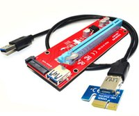 VER007S 0.6M PCI Express PCI-E 1X a 16X Riser Card Extender com cabo de dados USB 3.0 15Pin SATA Molex Power Interface