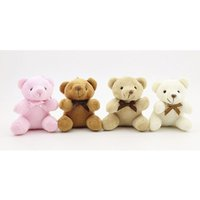 9cm Teddy Bear Cartoon Stuffed Toy Plush Toy Pendentif Porte-clés Porte-clés Porte-clés