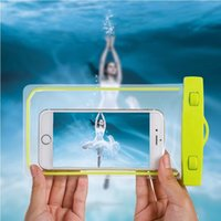 Wholesale Bubble Floats - Universal Waterproof Case Pouch Bubble Float Bag Under Water Proof Cover For iPhone 5SE 6s 7 plus For Samsung Galaxy S7 Xiaomi LG Huawei P9