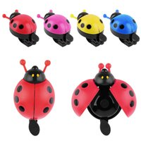 Wholesale Ladybug Lights - Hot ! Lovely Kid Beetle Ladybug Ring bicycle Bell For Cycling Bicycle Bike Ride Horn Alarm bike trumpet horn WHolesale